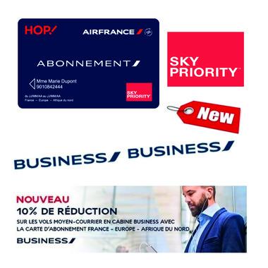 carte d abonnement air france Air France : La carte abonnement évolue