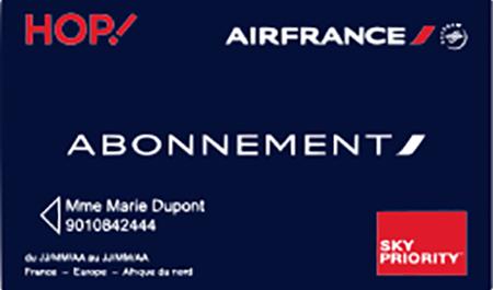 Air France : Promotion Carte Abonnement : -30% jusqu'au 30 juin 2017